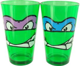 Ninja Turtles Faces Green Pint Glass Set
