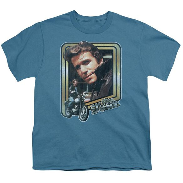 HAPPY DAYS THE FONZ - S/S YOUTH 18/1 - SLATE T-Shirt