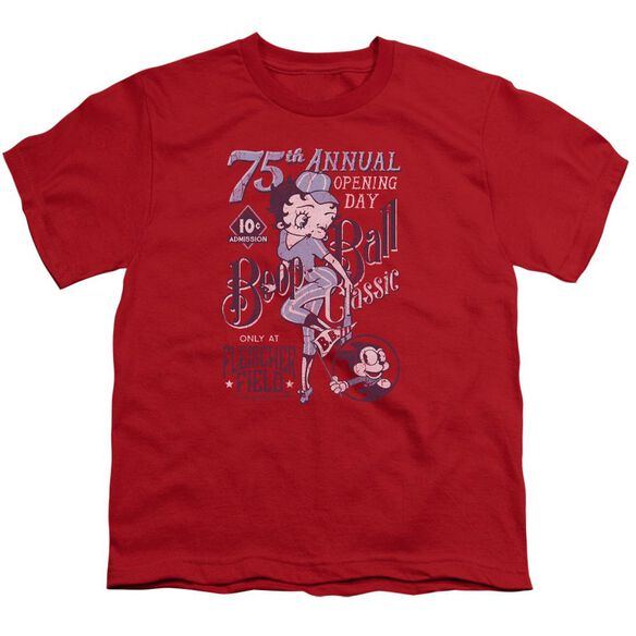 Betty Boop Boop Ball Short Sleeve Youth T-Shirt