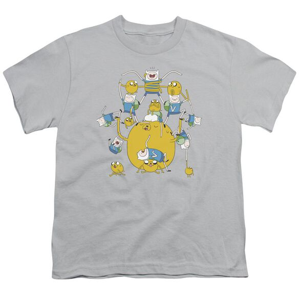 Adventure Time Finn&Jake Group Short Sleeve Youth T-Shirt