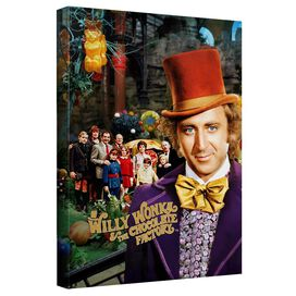 Willy Wonka And The Chocolate Factory Home Canvas Wall Art With Back Board