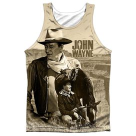 John Wayne Stoic Cowboy Adult 100% Poly Tank Top