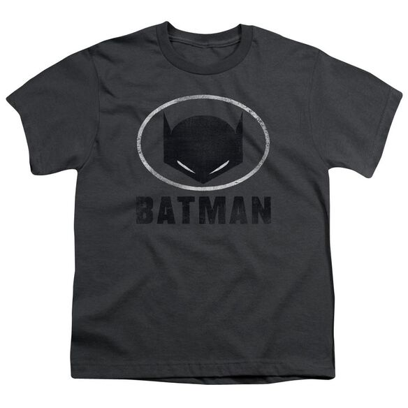 Batman Mask In Oval Short Sleeve Youth T-Shirt