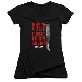 Scream Favorite Junior V Neck T-Shirt
