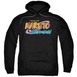 Naruto Shippuden Logo Adult Pull Over Hoodie Black