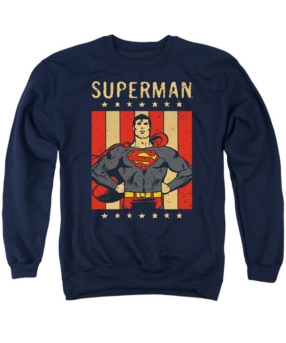 Dc Retro Liberty Adult Crewneck Sweatshirt