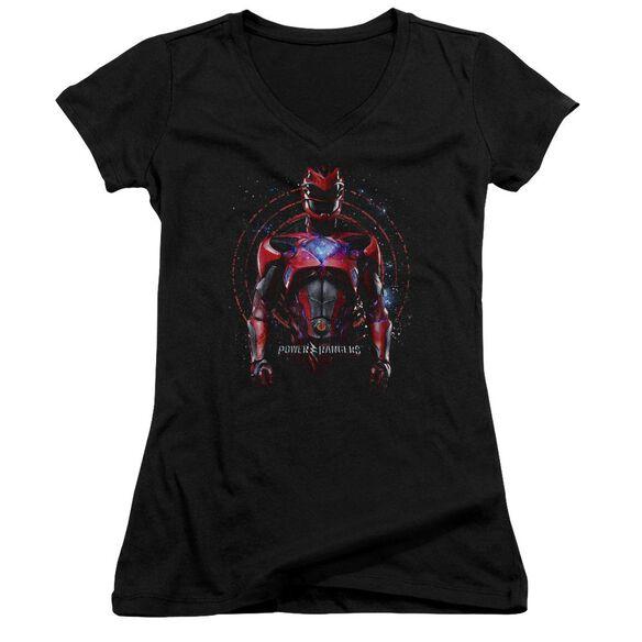 Power Rangers Red Ranger Junior V Neck T-Shirt