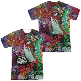 Suicide Squad Diablo Psychedelic Cartoon (Front Back Print) Short Sleeve Adult Poly Crew T-Shirt