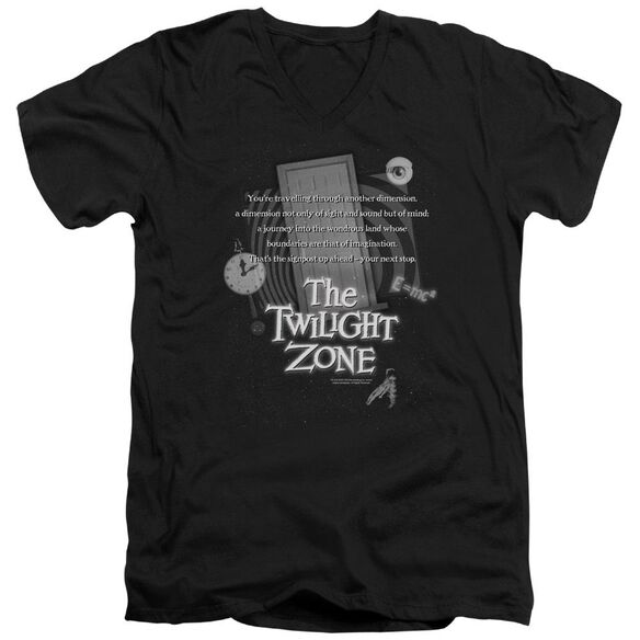 Twilight Zone Monologue Short Sleeve Adult V Neck T-Shirt
