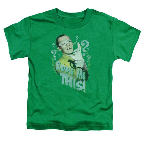 Batman Classic Tv Riddle Me This Short Sleeve Toddler Tee Kelly Green T-Shirt