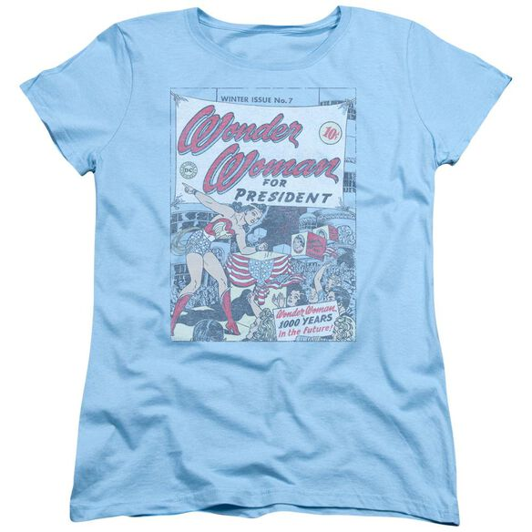 Dc Ww For President Short Sleeve Womens Tee Light T-Shirt