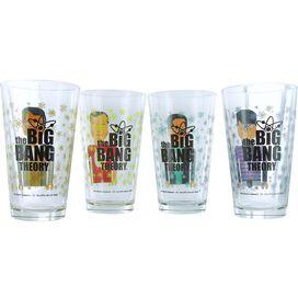 Big Bang Theory Pixelated Group Glass Set