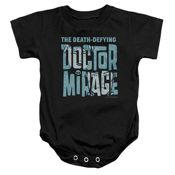 Doctor Mirage Character Logo Infant Snapsuit Black