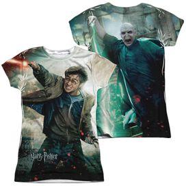 Harry Potter Harry Vs Voldemort (Front Back Print) Short Sleeve Junior Poly Crew T-Shirt