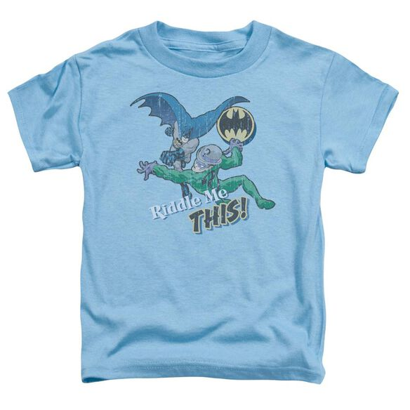Batman Riddle Me This Short Sleeve Toddler Tee Carolina Blue T-Shirt