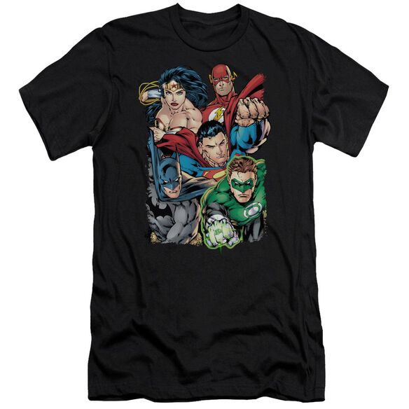 Jla Break Free Short Sleeve Adult T-Shirt