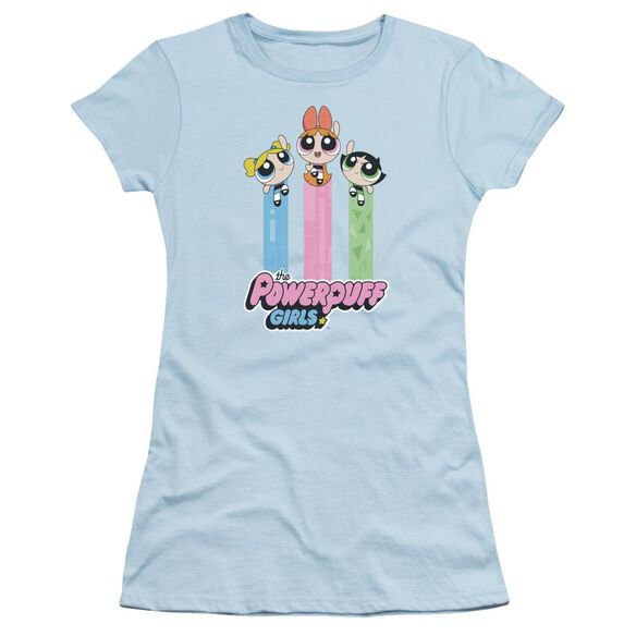 Powerpuff Girls The Girls Fly Short Sleeve Junior Sheer Light T-Shirt