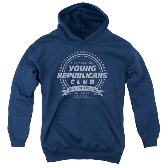 Family Ties Young Republicans Club-youth Pull-over Hoodie - Navy