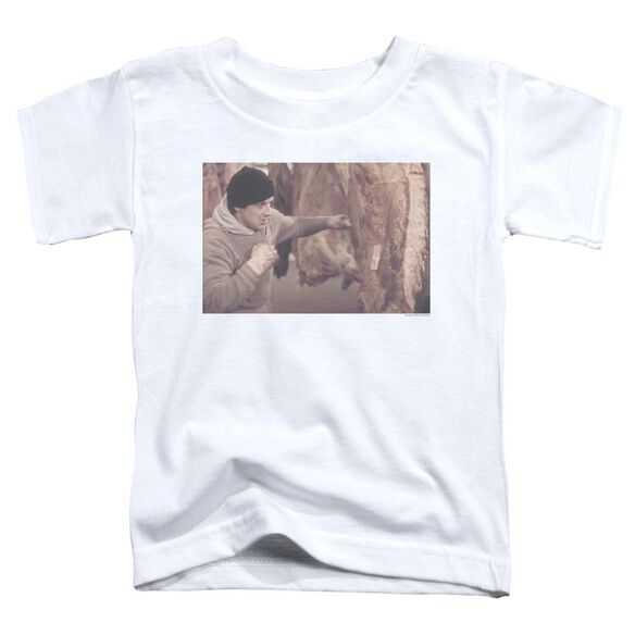 Rocky Meat Locker Short Sleeve Toddler Tee White T-Shirt