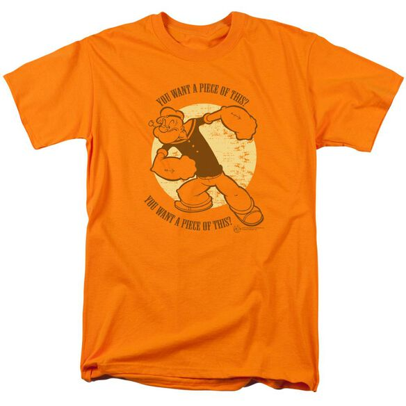 POPEYE YOU WANT A PIECE OF THIS - S/S ADULT 18/1 - ORANGE T-Shirt