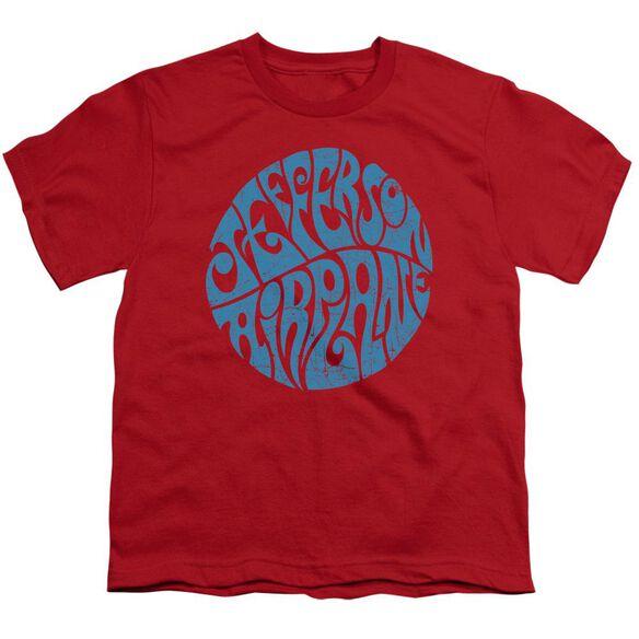 Jefferson Airplane Round Logo Short Sleeve Youth T-Shirt