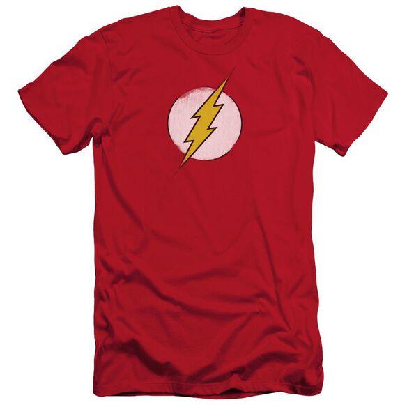 Dc Flash Rough Flash Logo Short Sleeve Adult T-Shirt
