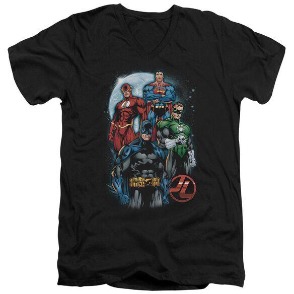 Jla The Four Short Sleeve Adult V Neck T-Shirt