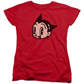 Astro Boy Face Short Sleeve Womens Tee T-Shirt