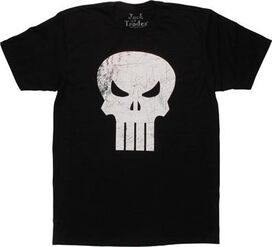 Punisher Scratched Logo T-Shirt
