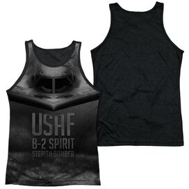 Air Force Stealth Adult Poly Tank Top Black Back