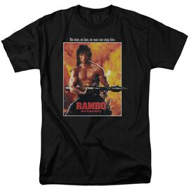 Rambo: First Blood Ii Poster Short Sleeve Adult Black T-Shirt