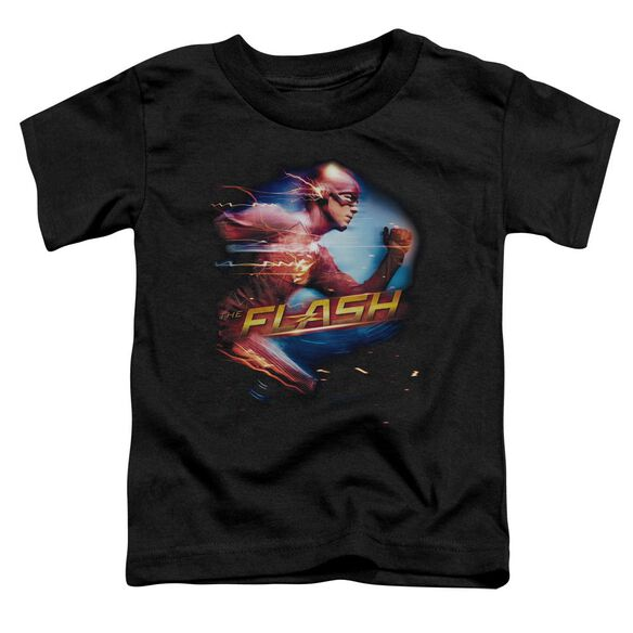 The Flash Fastest Man Short Sleeve Toddler Tee Black T-Shirt