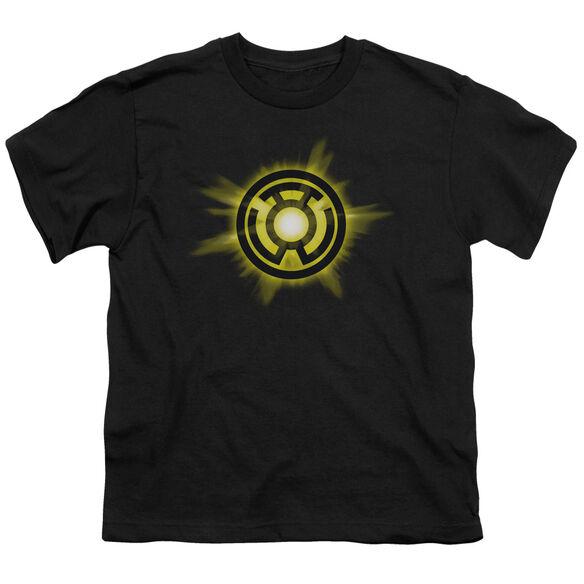 GREEN LANTERN YELLOW GLOW - S/S YOUTH 18/1 - BLACK T-Shirt