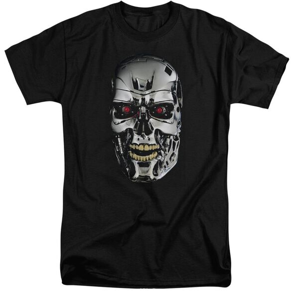 Terminator Skull Short Sleeve Adult Tall T-Shirt