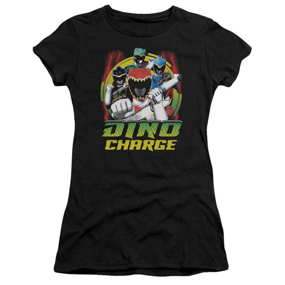 Power Rangers Dino Lightning Short Sleeve Junior Sheer T-Shirt