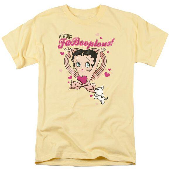 Betty Boop Fabooplous! Short Sleeve Adult Banana T-Shirt