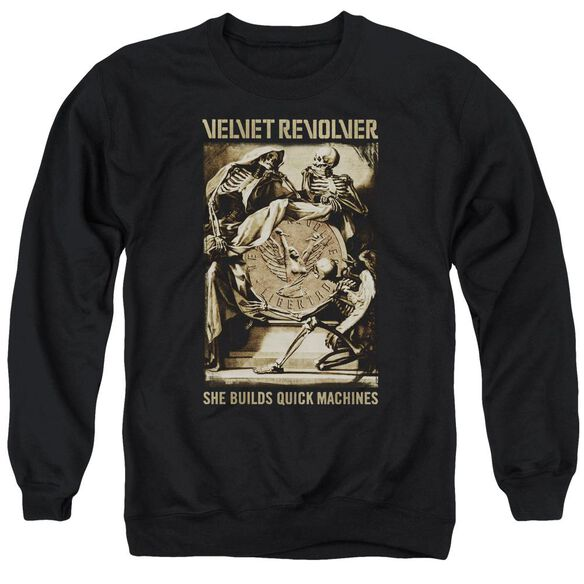 Velvet Revolver Quick Machines Adult Crewneck Sweatshirt