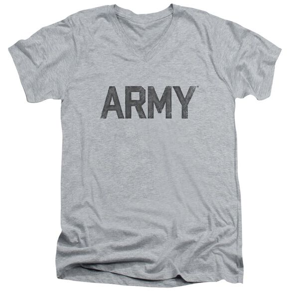 Army Star Short Sleeve Adult V Neck Athletic T-Shirt
