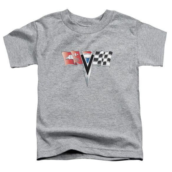 Chevrolet 2 Nd Gen Vette Nose Emblem Short Sleeve Toddler Tee Athletic Heather T-Shirt