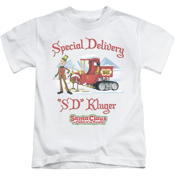 Santa Claus Is Comin To Town Kluger Short Sleeve Juvenile T-Shirt