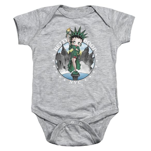Betty Boop Nyc Infant Snapsuit Athletic Heather