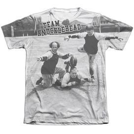 Three Stooges Team Knucklehead Adult Poly Cotton Short Sleeve Tee T-Shirt