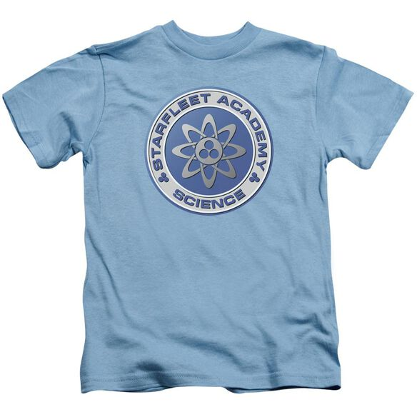 Star Trek Science Short Sleeve Juvenile Carolina Blue T-Shirt