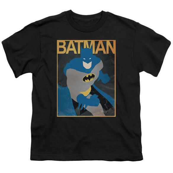 Batman Simple Bm Poster Short Sleeve Youth T-Shirt