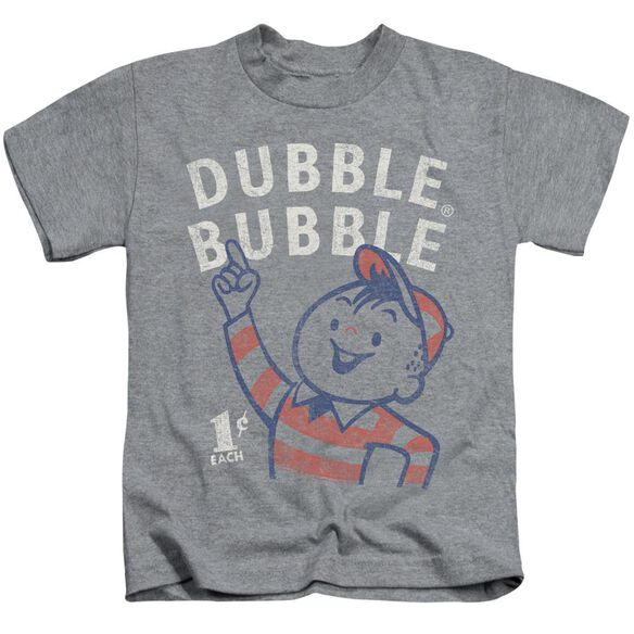 Dubble Bubble Pointing Short Sleeve Juvenile Athletic Heather T-Shirt