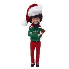 Bob Ross w/ Santa Hat Ornament
