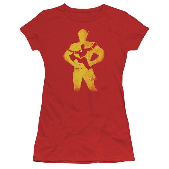 Jla Flash Knockout Short Sleeve Junior Sheer T-Shirt