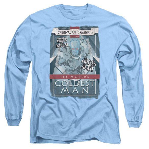 Batman Coldest Man Long Sleeve Adult Carolina T-Shirt