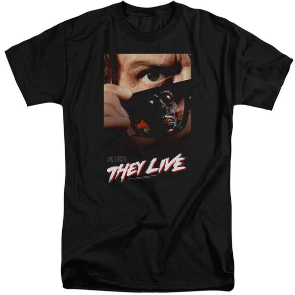 They Live Poster Short Sleeve Adult Tall T-Shirt