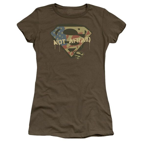 Superman Not Afraid Premium Bella Junior Sheer Jersey Military